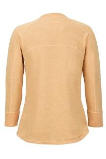 Women's Kerr 3/4-Sleeve Henley, Yellow Gold, medium
