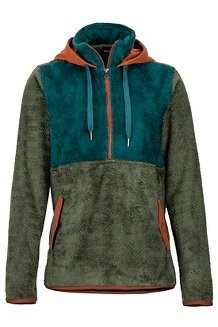 Women's Homestead Pullover Fleece, Crocodile/Deep Teal, medium