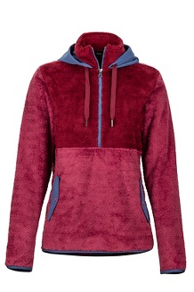 Women's Homestead Pullover Fleece, Dry Rose/Claret, medium