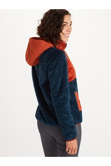 Women's Homestead Pullover Fleece, Dark Indigo/Picante, medium