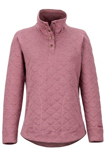 Women's Roice Long-Sleeve Pullover, Dry Rose Heather, medium