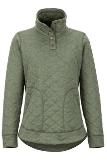 Women's Roice Long-Sleeve Pullover, Crocodile Heather, medium