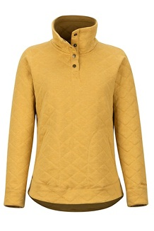 Women's Roice Long-Sleeve Pullover, Yellow Gold Heather, medium