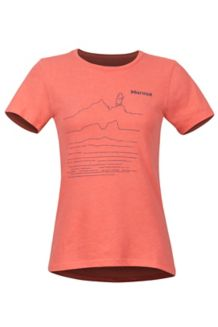 Women's Caligata SS Tee, Flamingo Heather, medium
