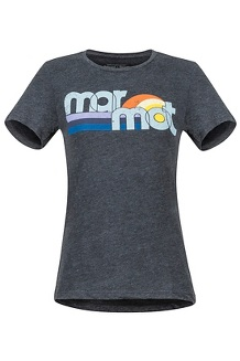 Women's Oceanside SS Tee, Charcoal Heather, medium