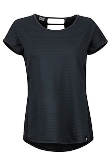 Women's Kitsilano SS Shirt, Black, medium