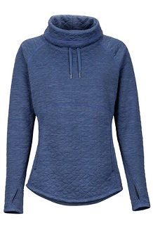 Women's Annie Long-Sleeve Pullover, Storm, medium