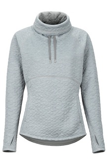 Women's Annie Long-Sleeve Pullover, Grey Storm, medium