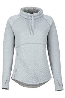 Women's Annie Long-Sleeve Pullover, Bright Steel, medium