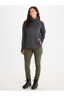 Women's Annie Long-Sleeve Pullover, Black Heather, medium