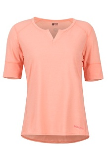 Women's Cynthia SS Shirt, Coral Pink, medium