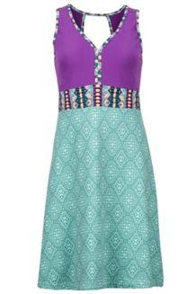 Women's Becca Dress, Clear Sky Frolic/Bright Violet, medium