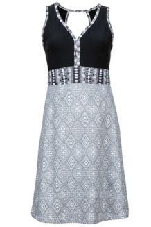 Wm's Becca Dress, White Frolic/Black, medium