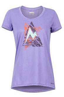 Women's Post Time Tee, Paisley Purple, medium