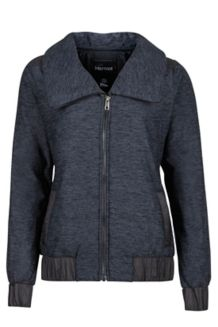 Wm's Elsee Jacket, Dark Charcoal Heather/Black, medium