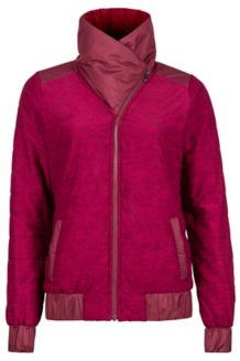 Wm's Elsee Jacket, Port/Red Dahlia Heather, medium
