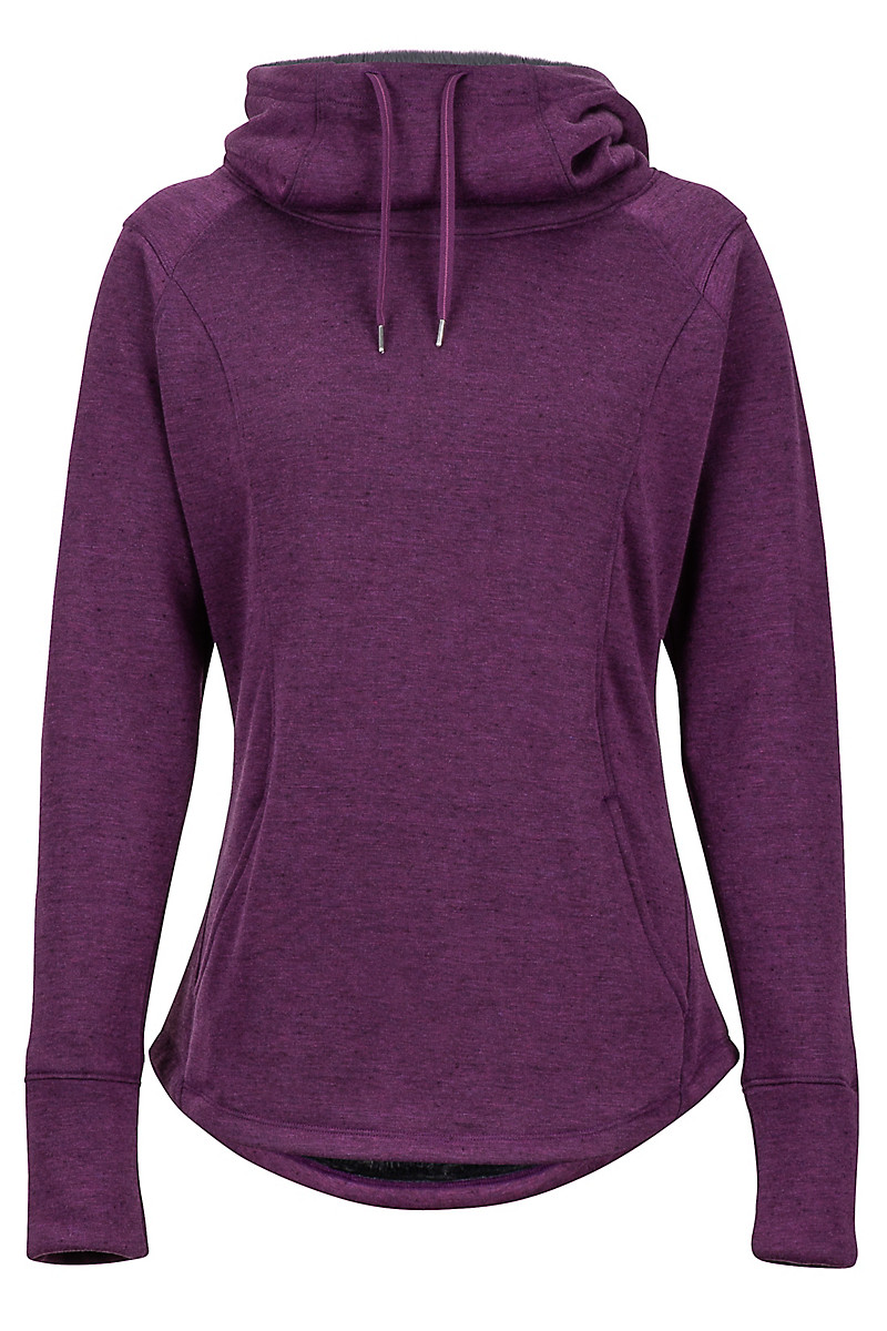 Wm's Tashi Hoody, Deep Plum Heather, large