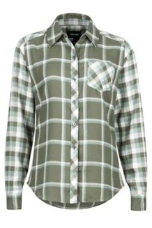 Wm's Taylor Flannel LS, Beetle Green, medium