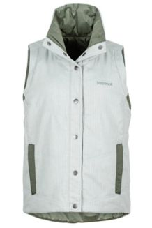Wm's Peyton Reversible Vest, Sea Fog/Beetle Green, medium
