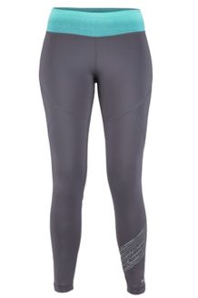 Wm's Fore Runner Tight, Dark Charcoal/Deep Lake, medium