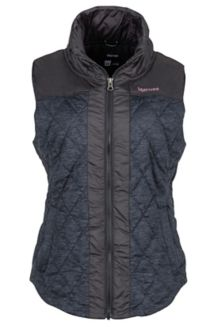 Wm's Abigal Vest, Dark Charcoal Heather/Black, medium