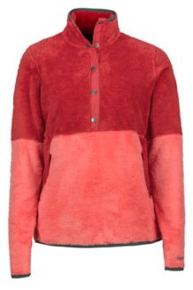 Women's Lariat LS Pullover, Desert Red/Living Coral, medium