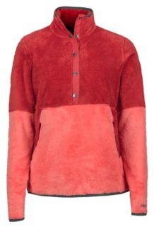 Women's Lariat LS Pullover, Desert Red/Living Coral, medium