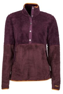 Women's Lariat LS Pullover, Dark Purple/Burgundy, medium