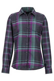 Women's Jensen Lightweight Flannel LS Shirt, Dark Steel, medium