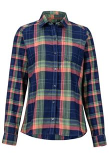 Women's Jensen Lightweight Flannel LS Shirt, Arctic Navy, medium