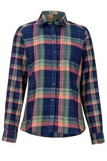 Women's Jensen Lightweight Flannel LS Shirt, Arctic Navy, medium