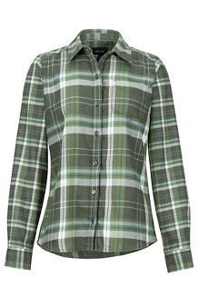 Women's Jensen Lightweight Flannel LS Shirt, Crocodile, medium
