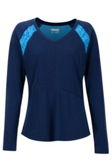 Women's Felicia LS Shirt, Arctic Navy/Lakeside Baja Vibe, medium
