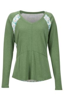 Women's Felicia LS Shirt, Vine Green/Oatmeal Baja Vibe, medium