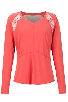Women's Felicia LS Shirt, Desert Red/Madder Red Baja Vibe, medium