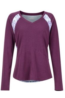 Women's Felicia LS Shirt, Dark Purple/Iceberg Baja Vibe, medium