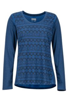 Women's Simone LS Shirt, Dark Cerulean Meta Geo, medium