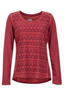 Women's Simone LS Shirt, Desert Red Meta Geo, medium