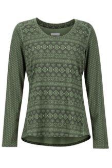 Women's Simone LS Shirt, Vine Green Meta Geo, medium