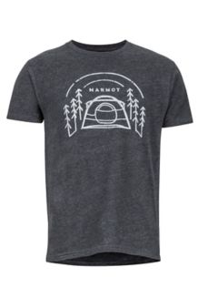 Camp Outdoor SS Tee, Charcoal Heather, medium