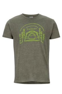 Camp Outdoor SS Tee, Olive Heather, medium