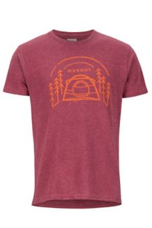 Camp Outdoor SS Tee, Burgundy Heather, medium