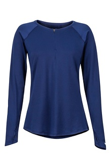 Women's Nevis LS Shirt, Arctic Navy, medium