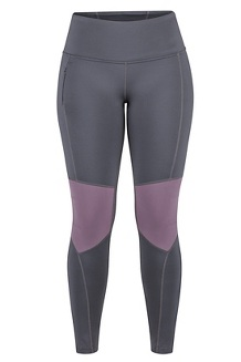 Women's Trail Bender Tights, Dark Steel/Vintage Violet, medium