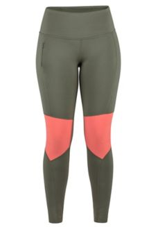 Women's Trail Bender Tights, Crocodile/Flamingo, medium