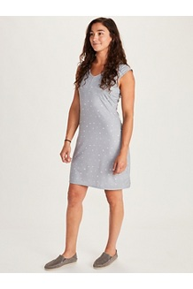 Women's Annabell Dress, Sleet Polkadot, medium