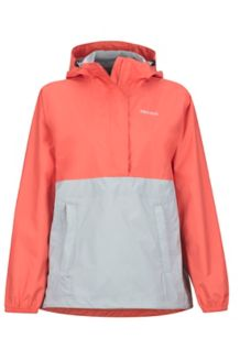 Wm's PreCip Anorak, Living Coral/Bright Steel, medium