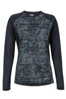 Women's Crystal LS Shirt, Black Mind Game, medium