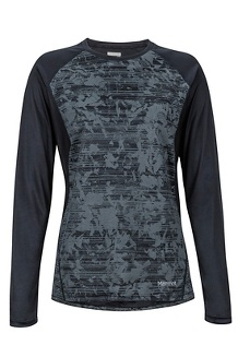 Women's Crystal LS Shirt, Black Mind Game, medium