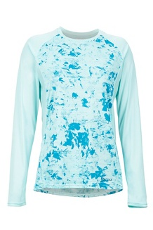 Women's Crystal LS Shirt, Blue Tint Mind Game, medium